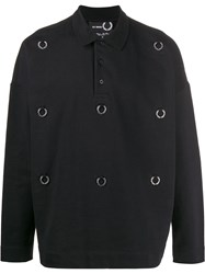 Fred Perry Raf Simons X Logo Plaque Polo Sweater 60
