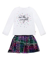 Kate Spade Cue The Confetti Top W Spot Print Skirt Size 12 24 Months Multi
