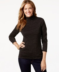 Charter Club Metallic Mock Turtleneck Sweater Only At Macy's