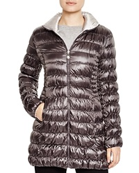 Laundry By Shelli Segal Reversible Packable Puffer Coat Charcoal Pewter