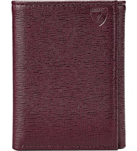 Aspinal Of London Trifold Saffiano Leather Wallet Burgundy