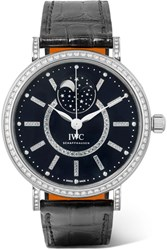 Iwc Schaffhausen Portofino Automatic Moon Phase 37 Alligator White Gold