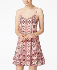 American Rag Juniors' Printed Shift Dress Only At Macy's Print Combo Print