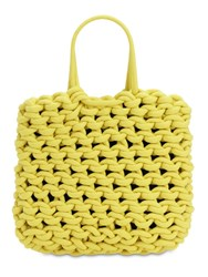 Alienina Ada Rope Cotton Shopping Bag Yellow