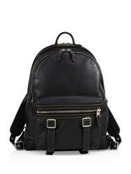 Coach Flag Leather Backpack Black