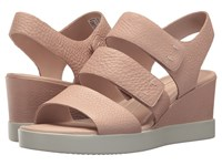Ecco Shape Wedge Plateau Sandal Rose Dust Cow Leather Sandals Pink