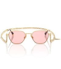 Alessandra Rich Exclusive To Mytheresa X Linda Farrow Square Sunglasses Pink