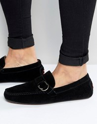 Garibaldo Suede Loafers Black
