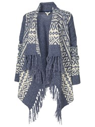 Fat Face Fairisle Waterfall Cardigan Indigo