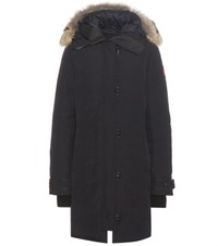 Canada Goose Lorette Down Coat With Fur Trimmed Hood Blue