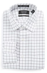 Nordstrom Men's Big And Tall Men's Shop Smartcare Tm Trim Fit Check Dress Shirt Silver Filigree