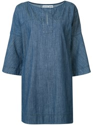 Apiece Apart 'Becerra' Flute Arm Dress Blue