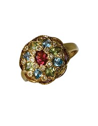 Effy 14 Kt. Yellow Gold Multi Colored Gemstone Ring