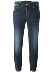Dsquared2 'Cool Girl' Cropped Jeans Blue