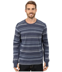 Prana Driftwood L S Crew Blue Ridge Men's Long Sleeve Pullover