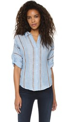 Mes Demoiselles Nevada Button Down Shirt Blue