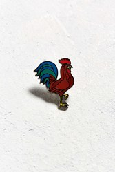 Urban Outfitters Uo Rooster Pin Brown