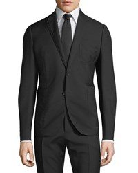 Valentino Two Piece Patch Pocket Twill Suit Black