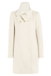 Vionnet Coat With Lama Hair And Wool White