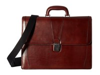 Bosca Old Leather Collection Double Gusset Briefcase Dark Brown Leather Briefcase Bags