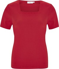 Cc Daisy Embroidered Square Neck T Shirt