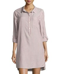 Velvet Heart Shoshana Striped Shirtdress Red