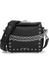 Alexander Mcqueen Box Bag 19 Embellished Leather Shoulder Bag Black