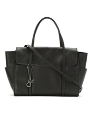 Gloria Coelho Leather Tote Black