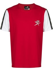 Plein Sport Contrasting Sleeves T Shirt Red