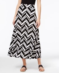 Inc International Concepts Printed Maxi Skirt Only At Macy's Graphic Zig Zag