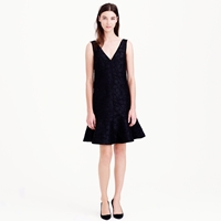 J.Crew Collection Black Floral Dress