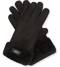 Ugg Turn Cuff Sheepskin Gloves Black