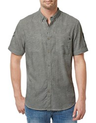 Buffalo David Bitton Heathered Cotton Shirt Green