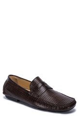 Bugatchi Montalcino Driving Penny Loafer Brown Leather