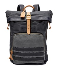 Fossil Defender Leather Blend Backpack Grey