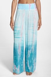 Hard Tail Tie Dye Wide Leg Pants Blue