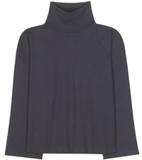 Acne Studios Lorna Cotton Turtleneck Sweater Blue