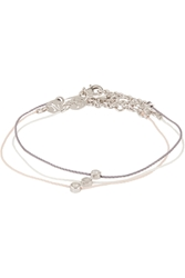 Finds Vanessa Tugendhaft Identity Set Of Three Woven Silver And Diamond Bracelets
