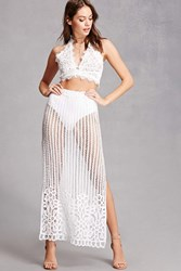 Forever 21 Honey Punch Crochet Maxi Skirt