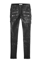 Faith Connexion Lace Up Jeans With Waxed Cotton