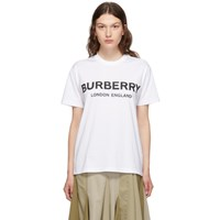 Burberry White Carrick T Shirt