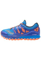 Saucony Xodus Iso Trail Running Shoes Purple Dark Blue