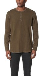 Reigning Champ Long Sleeve Henley Olive