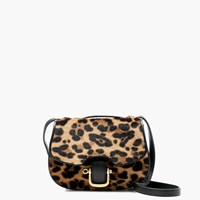J.Crew Mini Rider Bag In Italian Calf Hair Hazelnut Leopard