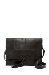 Foley Corinna Bo Leather Convertible Clutch Black
