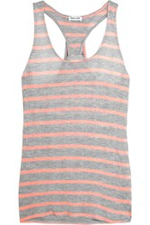 Splendid Huntington Striped Jersey Tank Gray