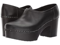 Swedish Hasbeens Bettan Black Black Women's Clog Shoes