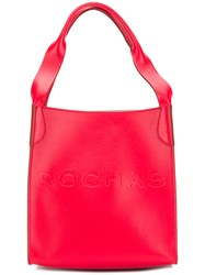 Rochas Boxy Tote Bag Red