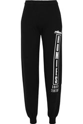 Brian Lichtenberg Homies Advisory Printed Cotton Jersey Track Pants Black
