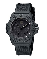 Luminox 44Mm Navy Seal 3500 Series Trident Watch Black